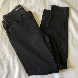old navy black skinny mid-rise jeans | 6